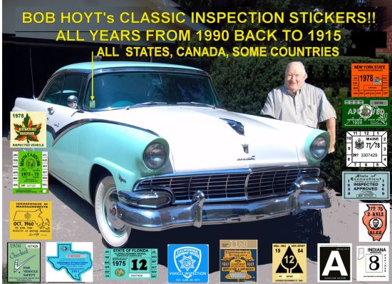 Bob hoyts classic inspection stickers add a final touch to your restoration